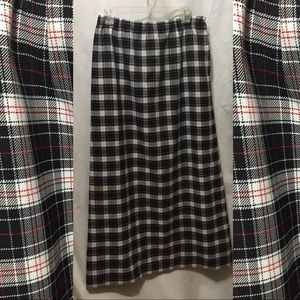 Plaid vintage maxi skirt L